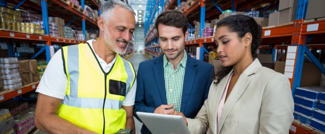 Distract Manager uses Compliantia Retail Audit Software in warehouse