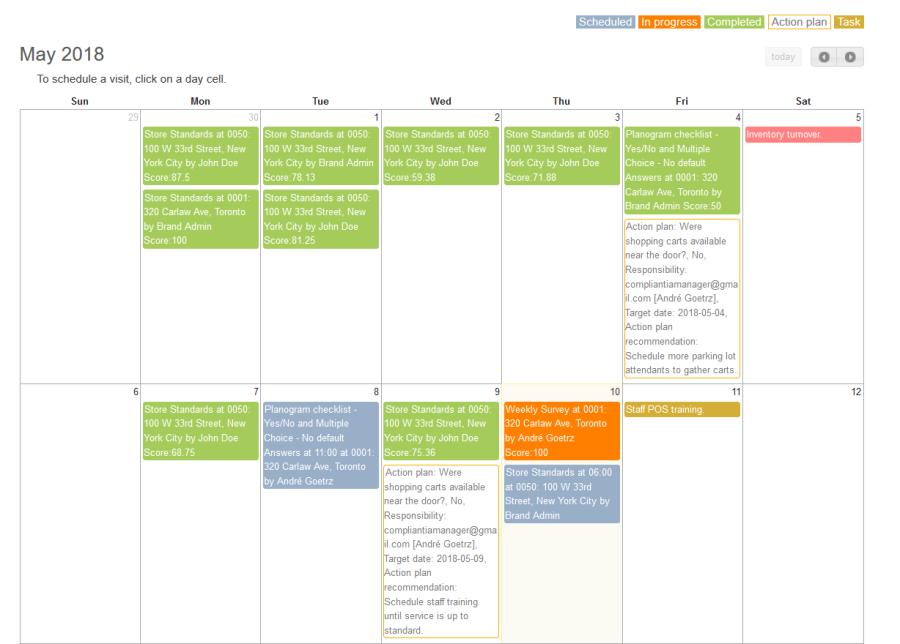 Compliantia Calendar Schedule Visits.png